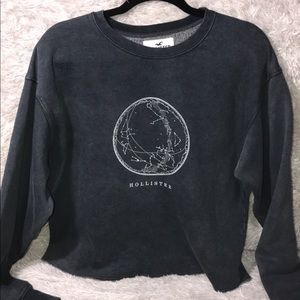 Hollister Oversized Terry Crewneck Sweatshirt